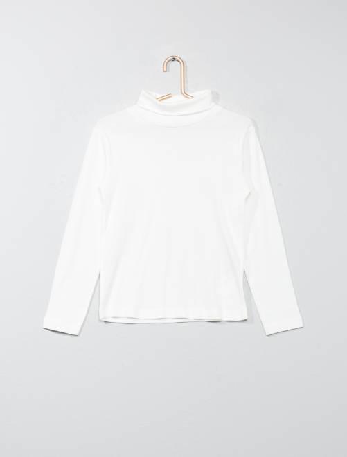 Sous-pull pur coton                             blanc Garçon