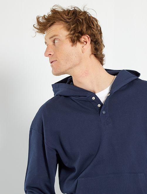 Sweat à capuche éco-conçu                             bleu noir