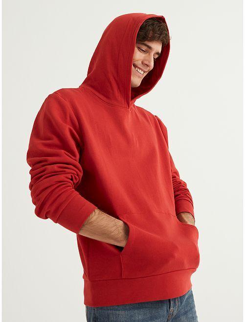Sweat à capuche éco-conçu                                                                             rouge
