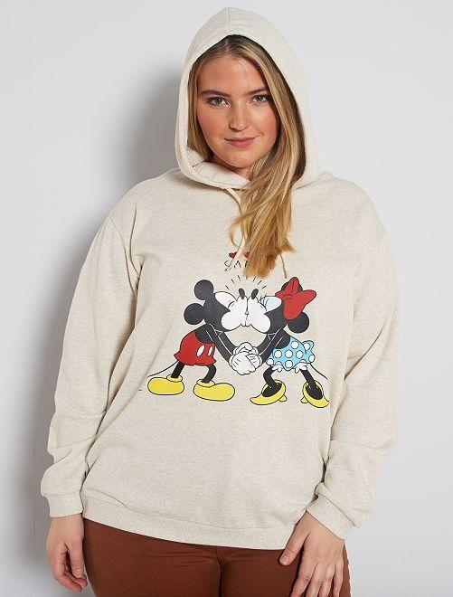 Sweat à capuche 'Mickey'                                         beige