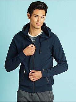 Homme du S au XXL Sweat à capuche zippé bleu marine