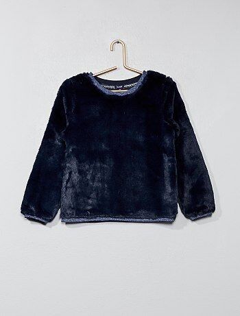 Sweat en peluche douce - Kiabi