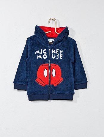 Sweat maille peluche 'Mickey' - Kiabi