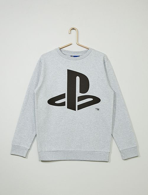 Sweat 'PlayStation'                             gris chiné