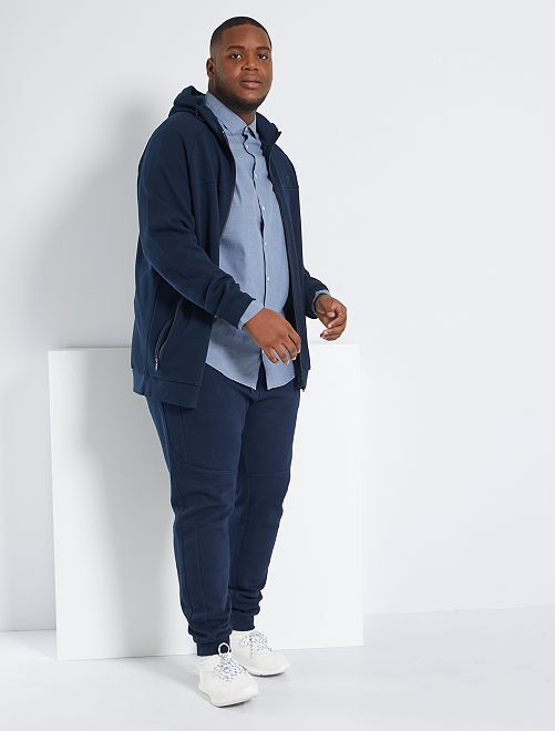Sweat zippé éco-conçu                             bleu marine
