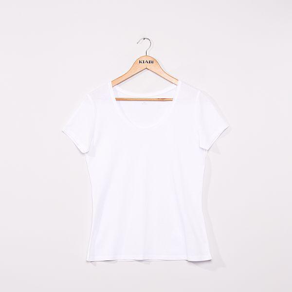 T-shirt à manches courtes Femme - blanc -