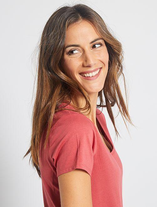 T-shirt à manches courtes                                                                                                                             framboise