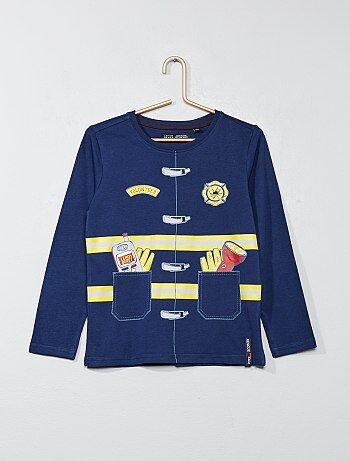 Garçon 3-12 ans - T-shirt animation pompier - Kiabi