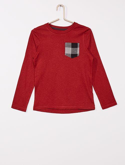 T-shirt avec poche poitrine                                         rouge