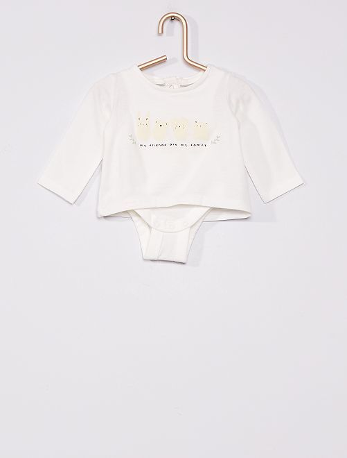 T-shirt body éco-conçu                                         blanc