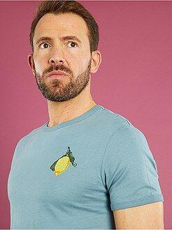 T-shirt - T-shirt brodé 'citron' coupe ajustée