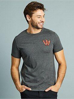 T-shirt - T-shirt brodé 'piment' coupe ajustée