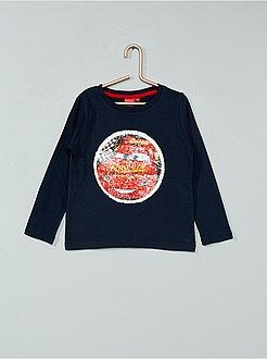 T-shirt 'Cars' sequins réversibles