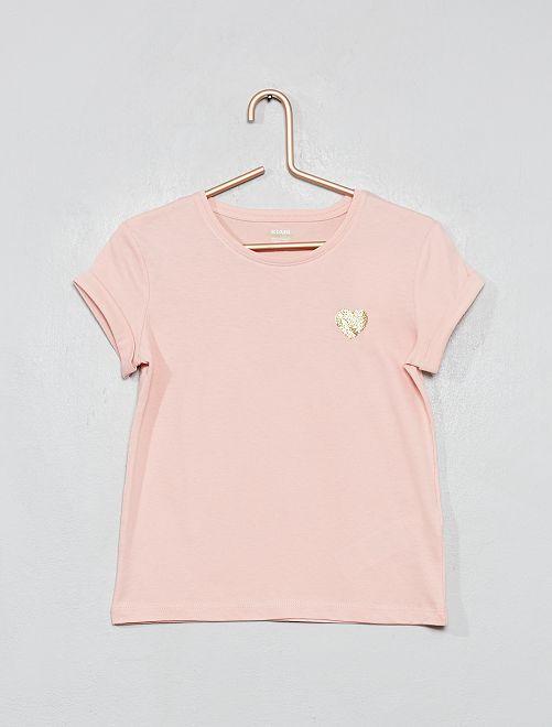 T-shirt cœur 'éco-conception'                                                                 rose