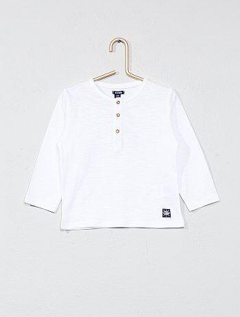 T-shirt col tunisien - Kiabi