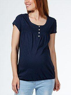 Maternité T-shirt de grossesse détails smocks