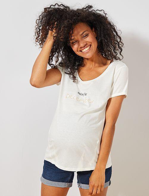 T-shirt de maternité éco-conçu                                                                                                                                         décembre