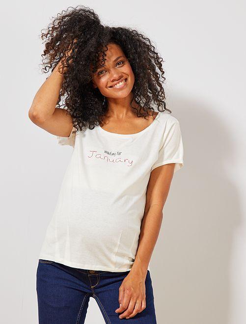 T-shirt de maternité éco-conçu                                                                                                                 janvier