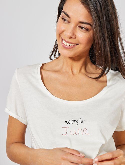 T-shirt de maternité éco-conçu                                                                                                                 juin