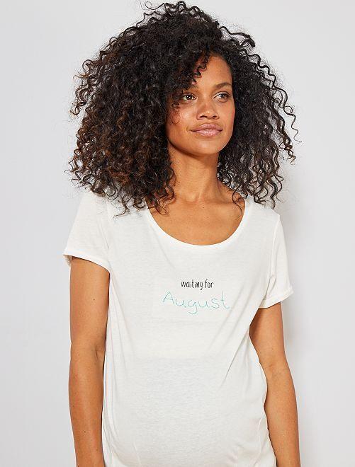 T-shirt de maternité en coton bio                                                                                                                                                                 août