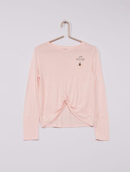 T-shirt de yoga                     rose