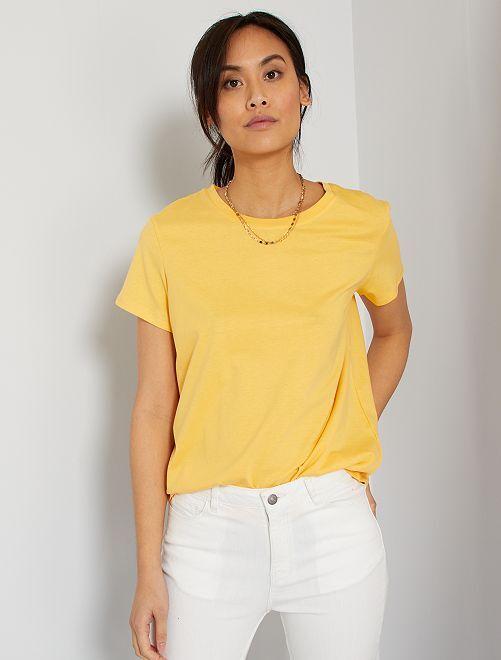 T-shirt éco-conçu                                                                                                                                         jaune crème