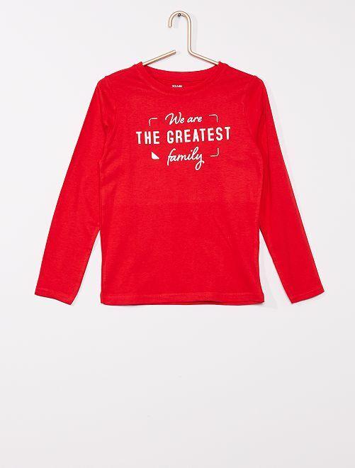 T-shirt éco-conçu                                                                                                                 rouge
