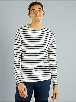Homme du S au XXL T-shirt en jersey rayé