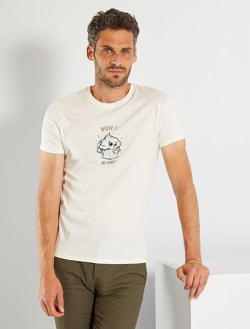 T-shirt fête des pères                             écru/cake