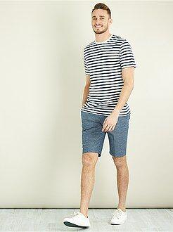 T-shirt imprimé - T-shirt fitted rayé +1m90 - Kiabi