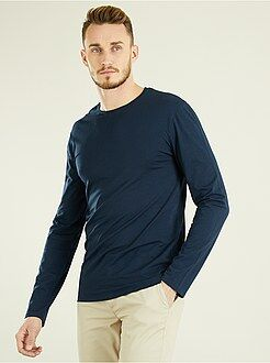 T-shirt - T-shirt fitted uni en coton +1m90 - Kiabi