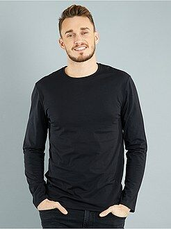 Homme du S au XXL - T-shirt fitted uni en coton +1m90 - Kiabi
