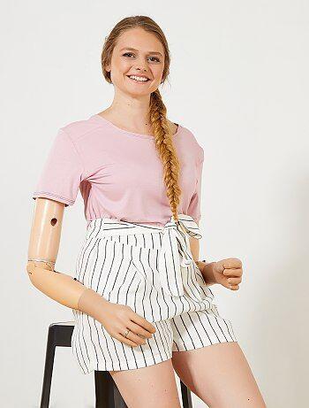 Femme du 34 au 48 - T-shirt fluide 'A&K Classics' - Kiabi