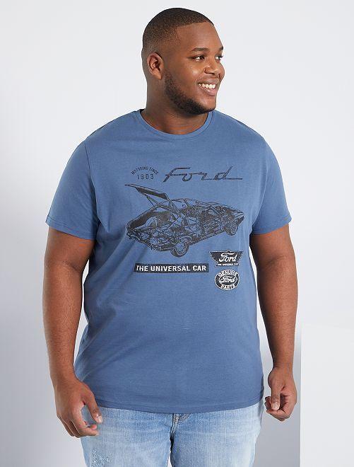 T-shirt 'Ford'                             bleu gris