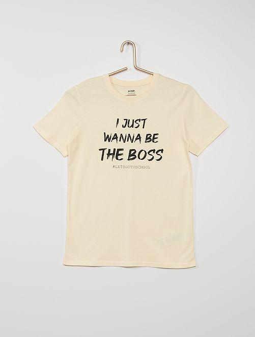 T-shirt 'I just wanna be the boss'                             écru