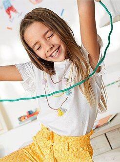 Fille 3-12 ans - T-shirt impression trompe l'oeil - Kiabi