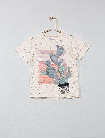 T-shirt imprimé 'cactus' - Kiabi