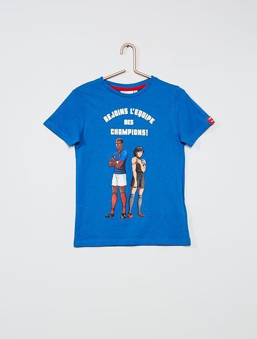 T-shirt imprimé 'Captain Tsubasa'                                         bleu