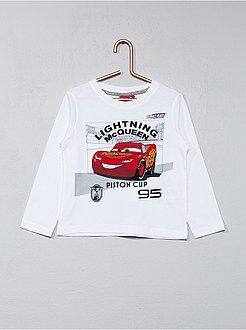 Tee shirt, polo blanc - T-shirt imprimé 'Cars'