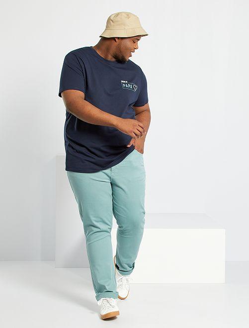 T-shirt imprimé éco-conçu                                 bleu marine