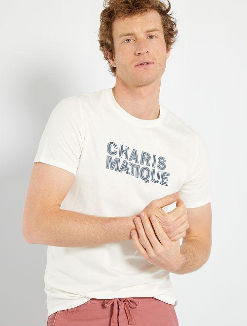 T-shirt imprimé éco-conçu                                                                                                                                                                 écru/charismatique