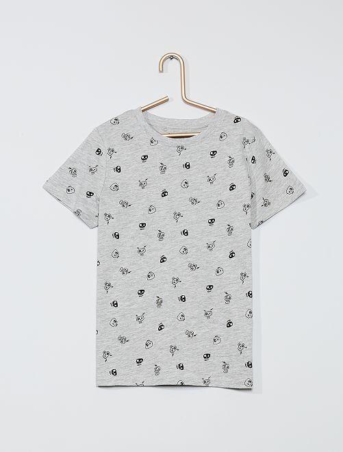 T-shirt imprimé éco-conçu                                         gris