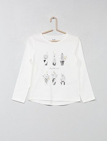 Fille 3-12 ans - T-shirt imprimé - Kiabi