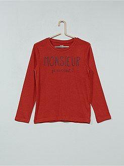 T-shirt manches longues - T-shirt imprimé en coton - Kiabi