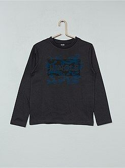 T-shirt manches longues - T-shirt imprimé fantaisie - Kiabi