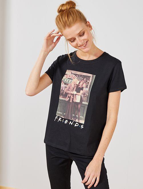 T-shirt imprimé 'Friends'                             noir Femme