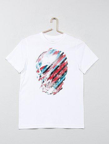 T-shirt imprimé manches courtes - Kiabi
