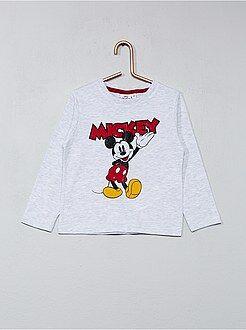Tee shirt, polo gris - T-shirt imprimé 'Mickey'