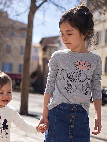 T-shirt imprimé 'Minnie & Mickey' - Kiabi