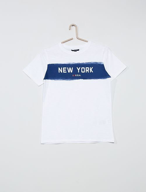T-shirt imprimé 'New-York'                                 blanc